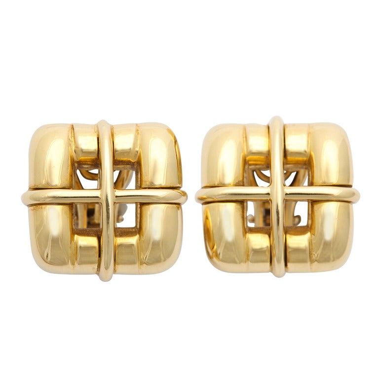 Tiffany & Co. Gold Ear Clips