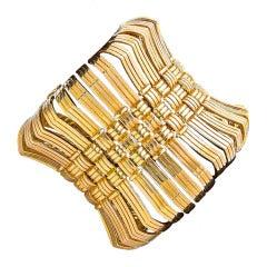 Magnificent Rare Large Cartier Gold Bracelet