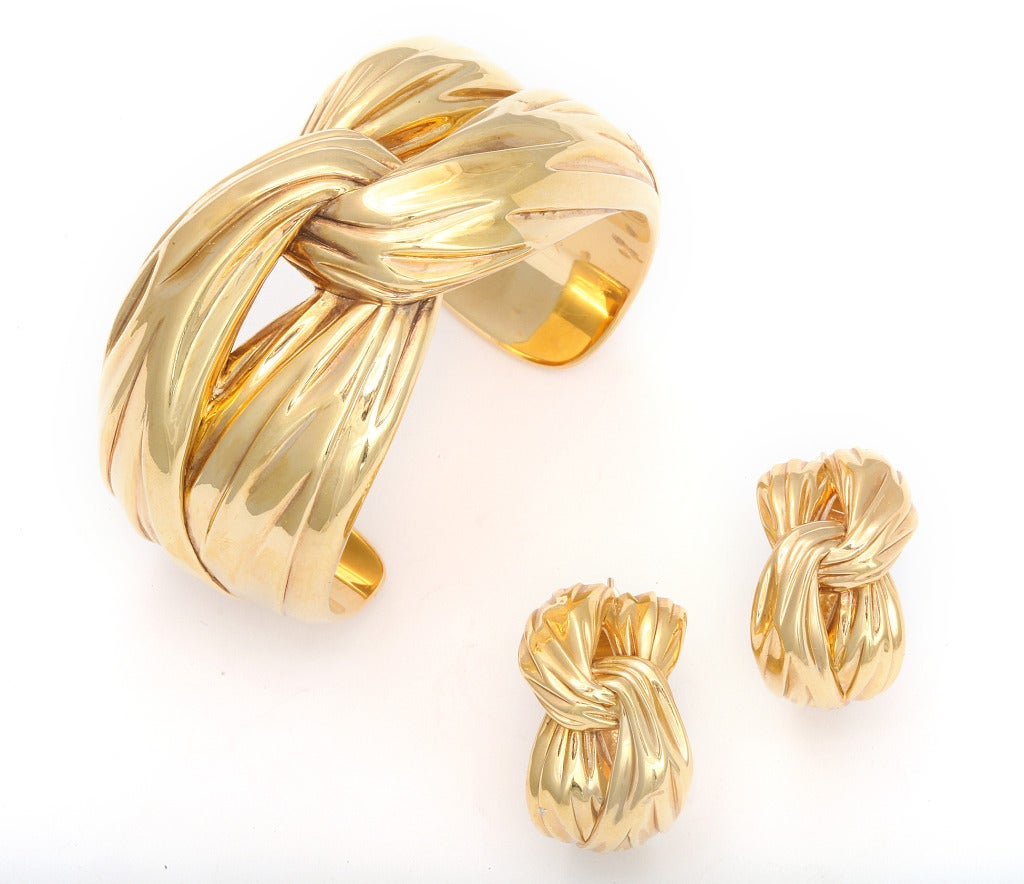 Yves Saint Laurent Paris Gold Cuff Bracelet image 2