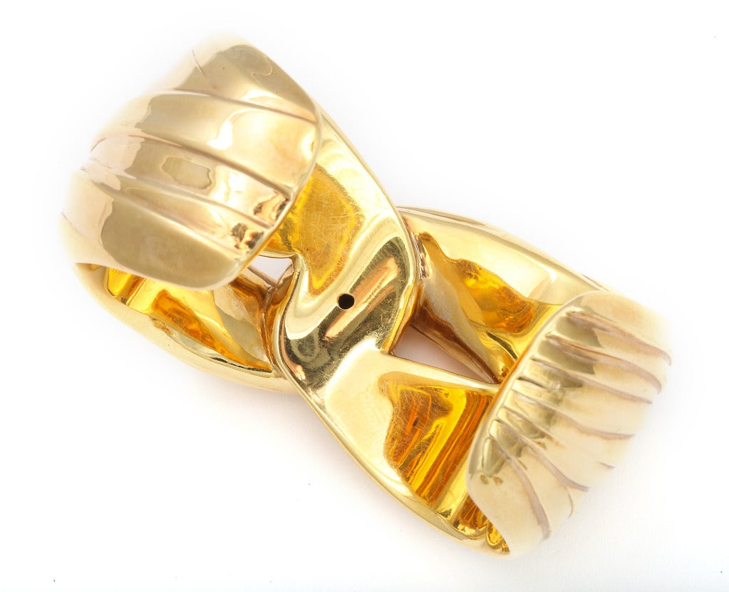 Yves Saint Laurent Paris Gold Cuff Bracelet image 3