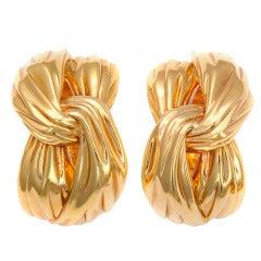 Yves Saint Laurent Paris Gold Earrings