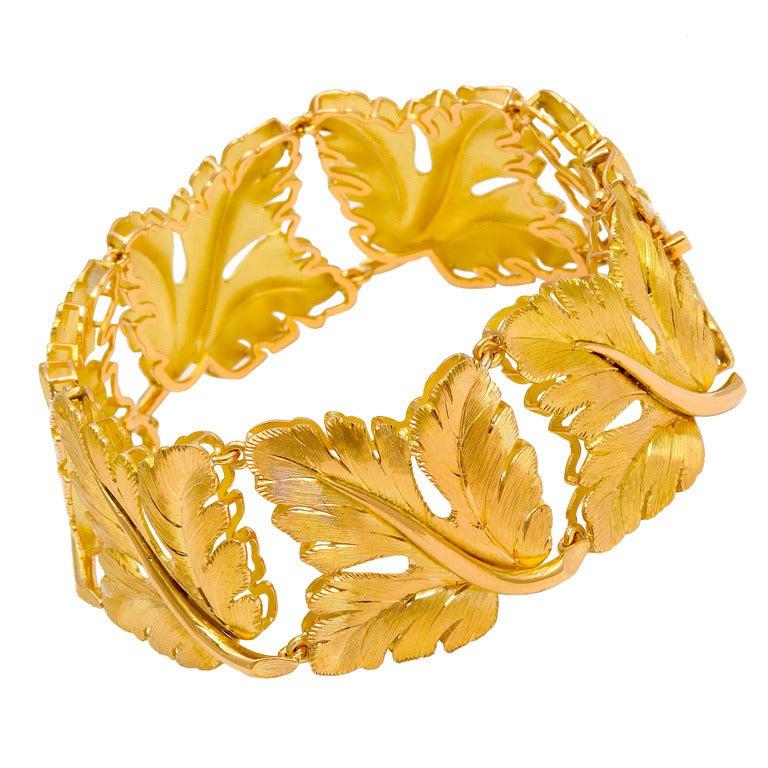 1970s Tiffany-Italy, Brushed Gold Bracelet
