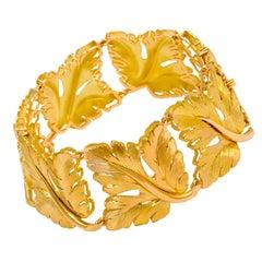 1970s Tiffany & Co., Italy, Brushed Gold Bracelet
