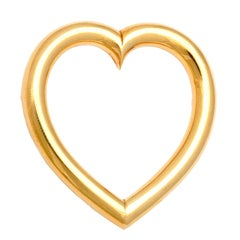 1940s Sloan & Co. Retro Gold Heart Brooch