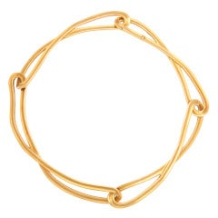 1990s Angela Cummings Tiffany Gold Necklace