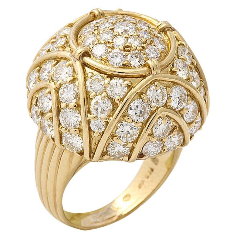 HARRY WINSTON Diamond Large Dome Ring