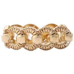 TIFFANY 1950's Bracelet 14KT Gold Openwork Links