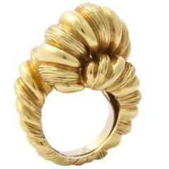 CARTIER Impressive 18KT Gold Rope Knot Ring