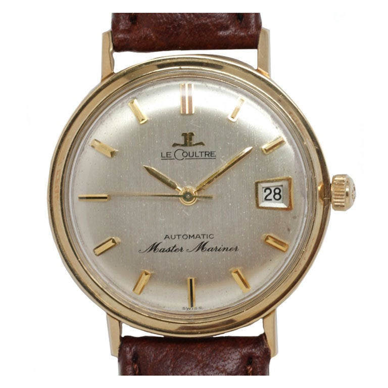 jaeger lecoultre yellow gold automatic master mariner