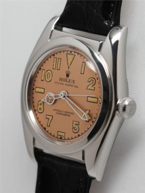 ROLEX Stainless Steel Bubbleback Wristwatch Ref 2940 circa 1946 image 2