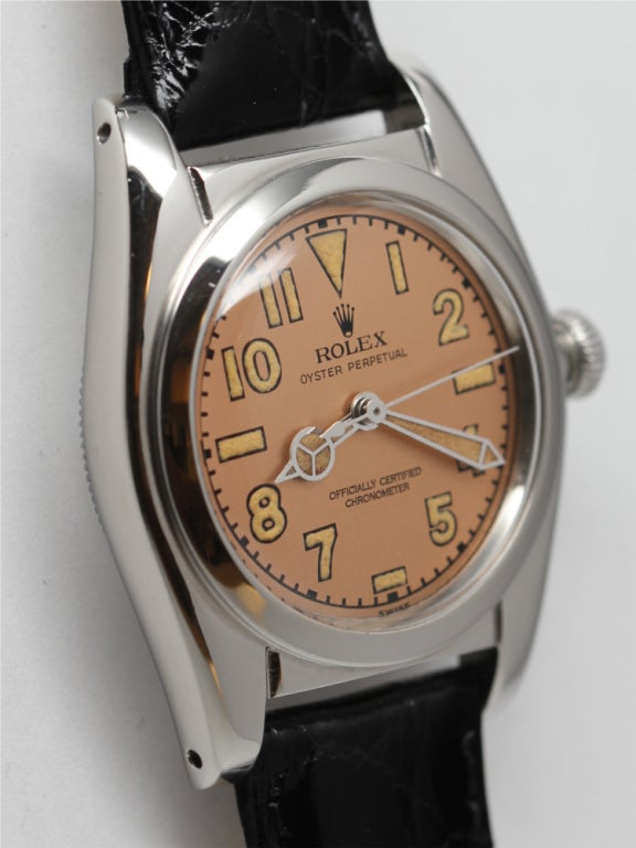 ROLEX Stainless Steel Bubbleback Wristwatch Ref 2940 circa 1946 image 3