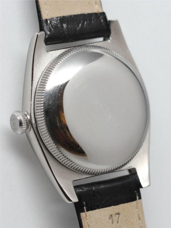 ROLEX Stainless Steel Bubbleback Wristwatch Ref 2940 circa 1946 image 4