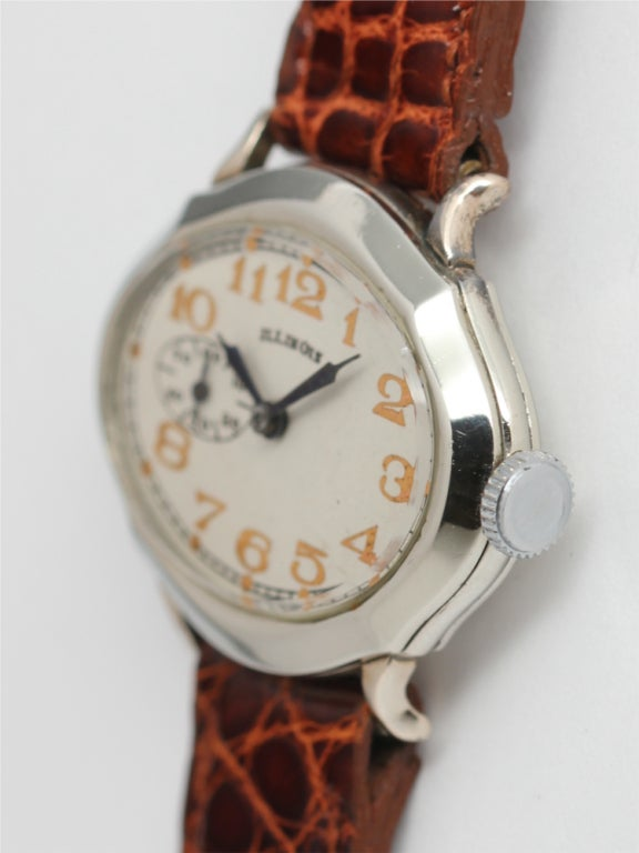"ILLINOIS White Gold-Filled ""Picadilly"" Wristwatch circa 1929 image 2"