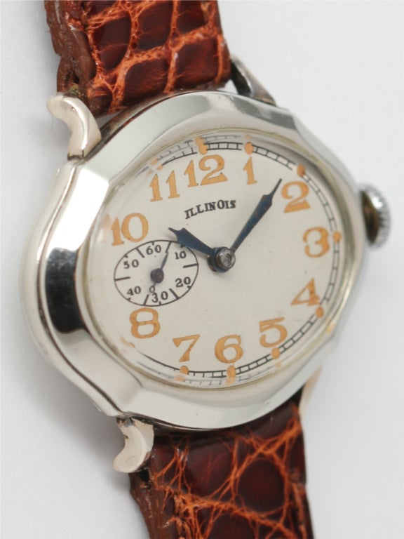 "ILLINOIS White Gold-Filled ""Picadilly"" Wristwatch circa 1929 image 3"