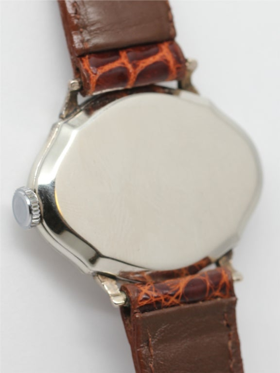 "ILLINOIS White Gold-Filled ""Picadilly"" Wristwatch circa 1929 image 4"