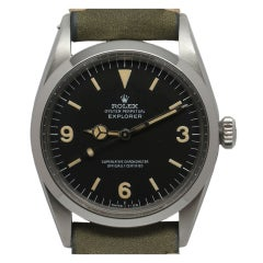 ROLEX Stainless Steel Explorer Wristwatch Rref 1016 circa 1967