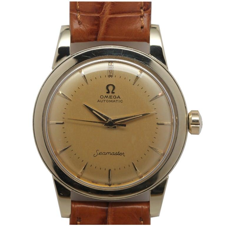 Omega Gold Filled Seamaster Wristwatch Circa 1950s At 1stdibs