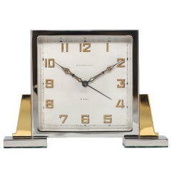 Abercrombie & Fitch Art Deco Desk Clock with Alarm