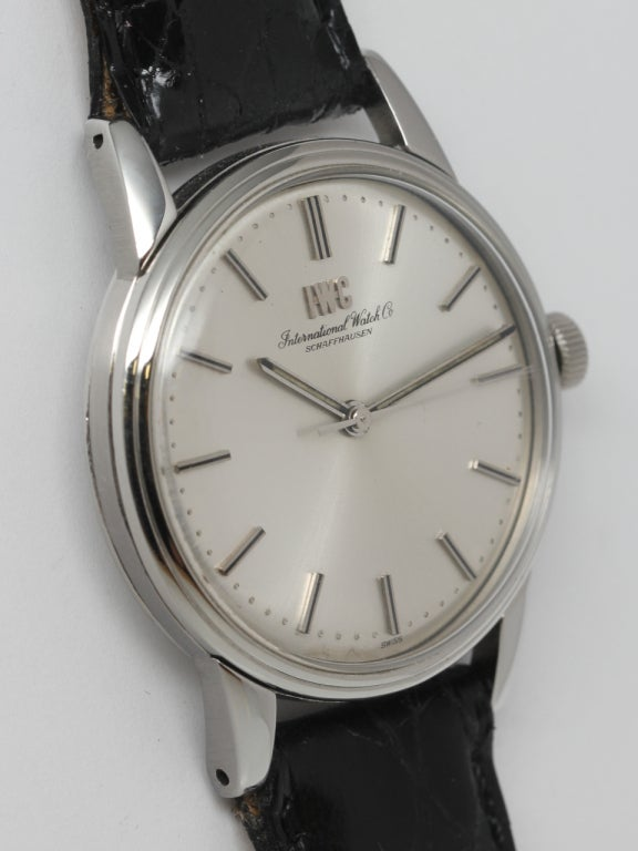 IWC Stainless Steel Dress Wristwatch circa 1970s 3