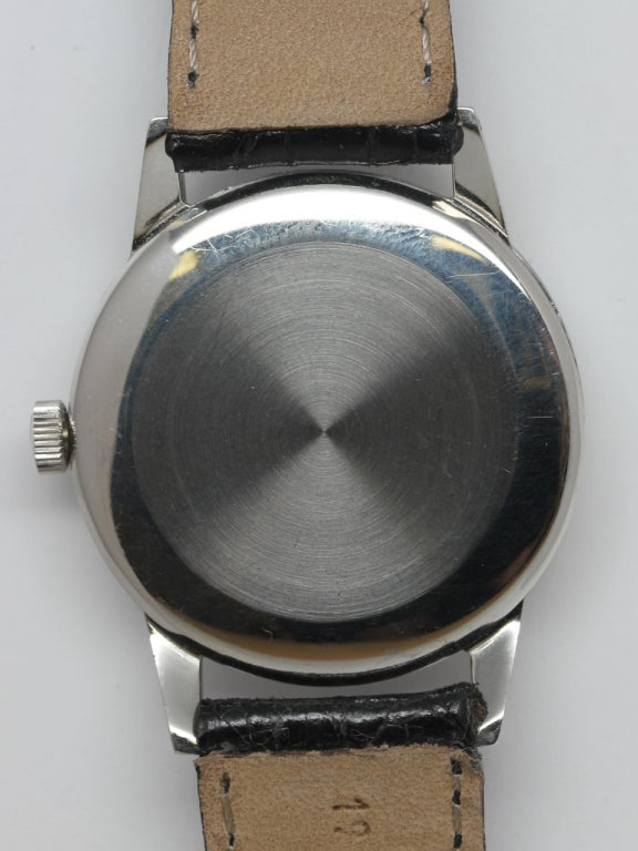 IWC Stainless Steel Dress Wristwatch circa 1970s 4