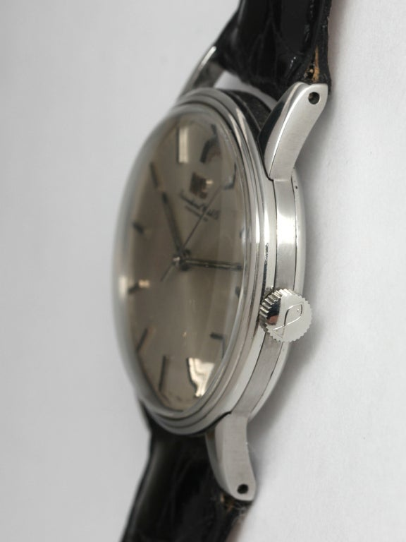 IWC Stainless Steel Dress Wristwatch circa 1970s 5