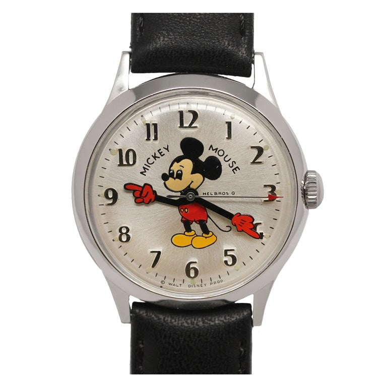 Helbros Mickey Mouse Wristwatch Circa 1970s At 1stdibs
