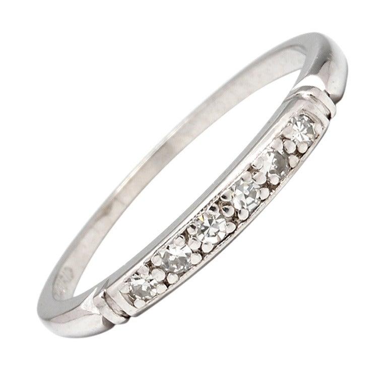 Vintage diamond platinum wedding band 009 carat circa 1940s for vintage diamond platinum wedding band 009 carat circa 1940s 1 junglespirit Choice Image