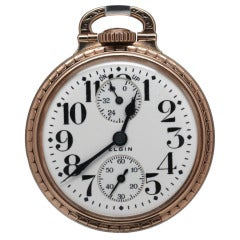 Elgin Gold Filled Pocket Watch with Up-Down Indicator, circa 1928