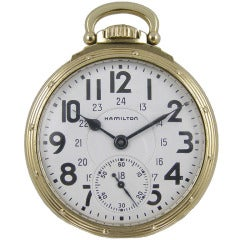 Hamilton Gold Filled Railroad 950-B Pocket Watch, circa 1951