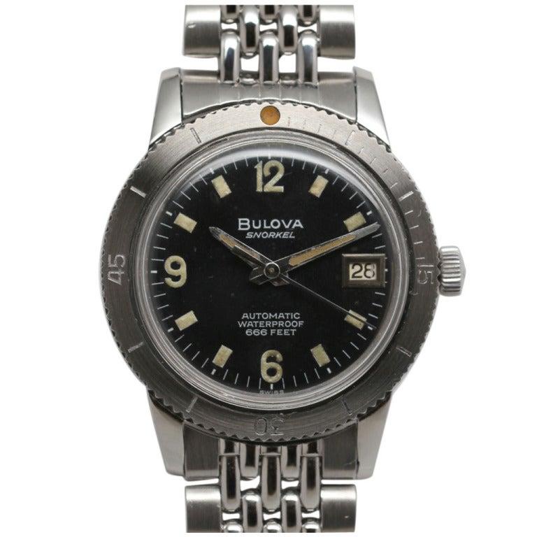 Bulova Stainless Steel Diver's Wristwatch circa 1959