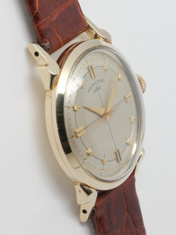 "Hamilton Yellow Gold ""CLD"" Wristwatch circa 1950s 2"