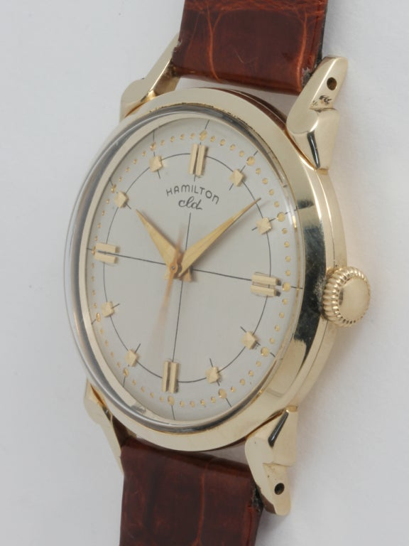 "Hamilton Yellow Gold ""CLD"" Wristwatch circa 1950s 3"