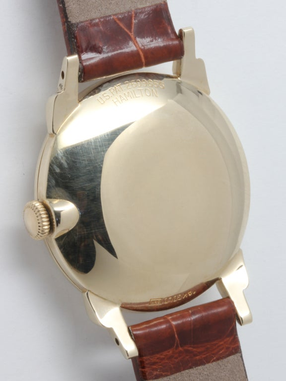 "Hamilton Yellow Gold ""CLD"" Wristwatch circa 1950s 4"