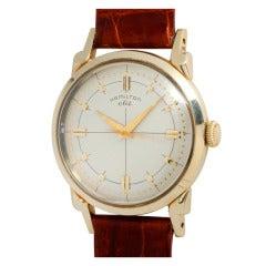 "Hamilton Yellow Gold ""CLD"" Wristwatch circa 1950s"