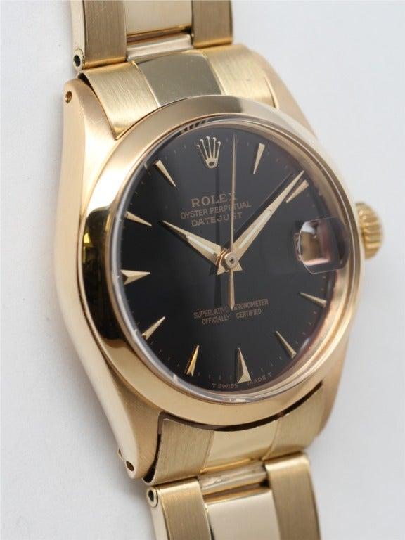 Rolex Yellow Gold Midsize Datejust Wristwatch Ref 6629 circa 1965