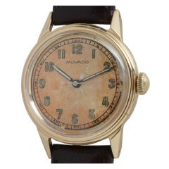 Movado Yellow Gold Wristwatch circa 1940s