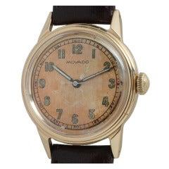 Movado Yellow Gold Wristwatch circa 1940s
