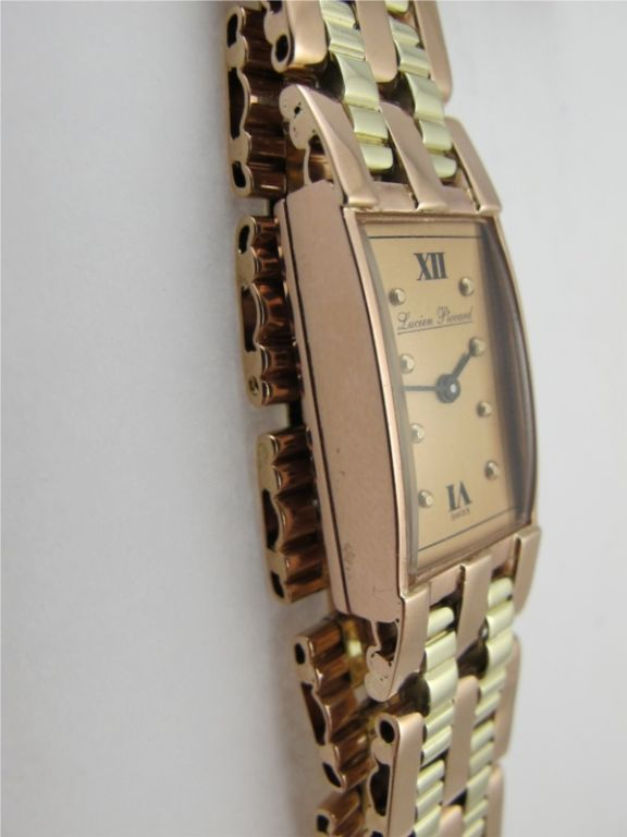 Women's Lucien Piccard 14K 2 tone Pink & Green gold circa 1940's For Sale