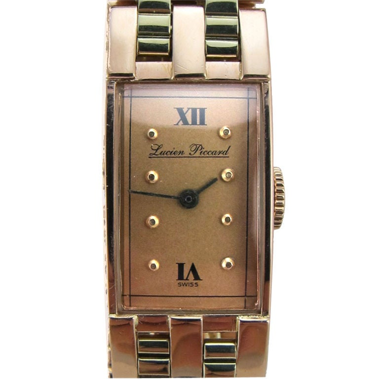 Lucien Piccard 14K 2 tone Pink & Green gold circa 1940's For Sale