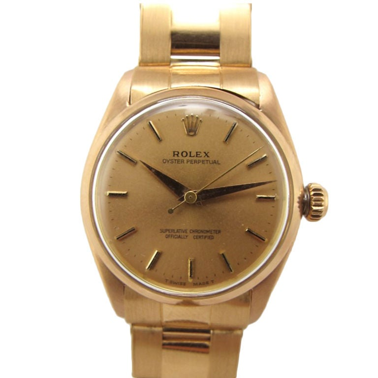 Rolex 18K PG Oyster Perpetual ref. 6551 c. 1958 1