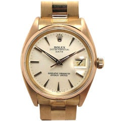 Rolex 18K Pink Gold Oyster Perpetual Date ref. 1503 c. 1960
