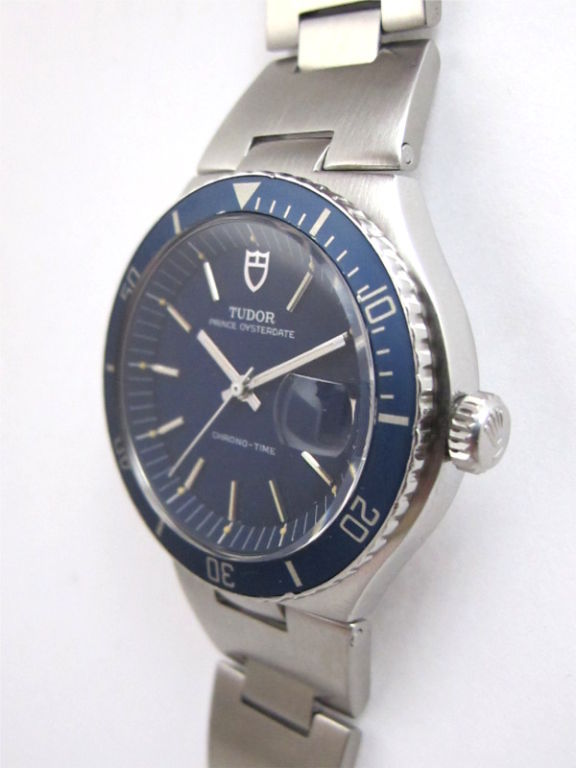 Tudor steel prince oysterdate chrono time diver watch c - Tudor dive watch price ...