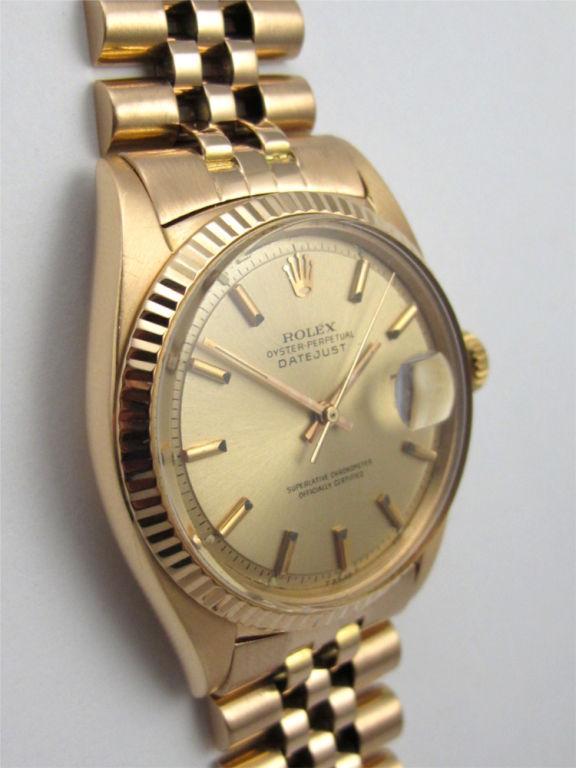 Rolex 18K Pink Gold Datejust ref 1601 circa 1962 For Sale 1