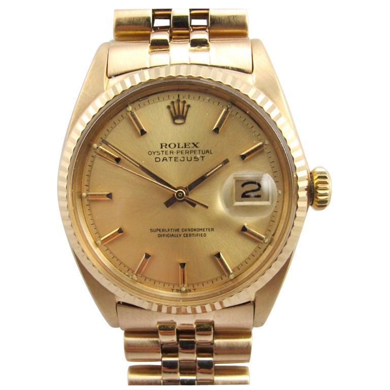 Rolex 18K Pink Gold Datejust ref 1601 circa 1962 For Sale