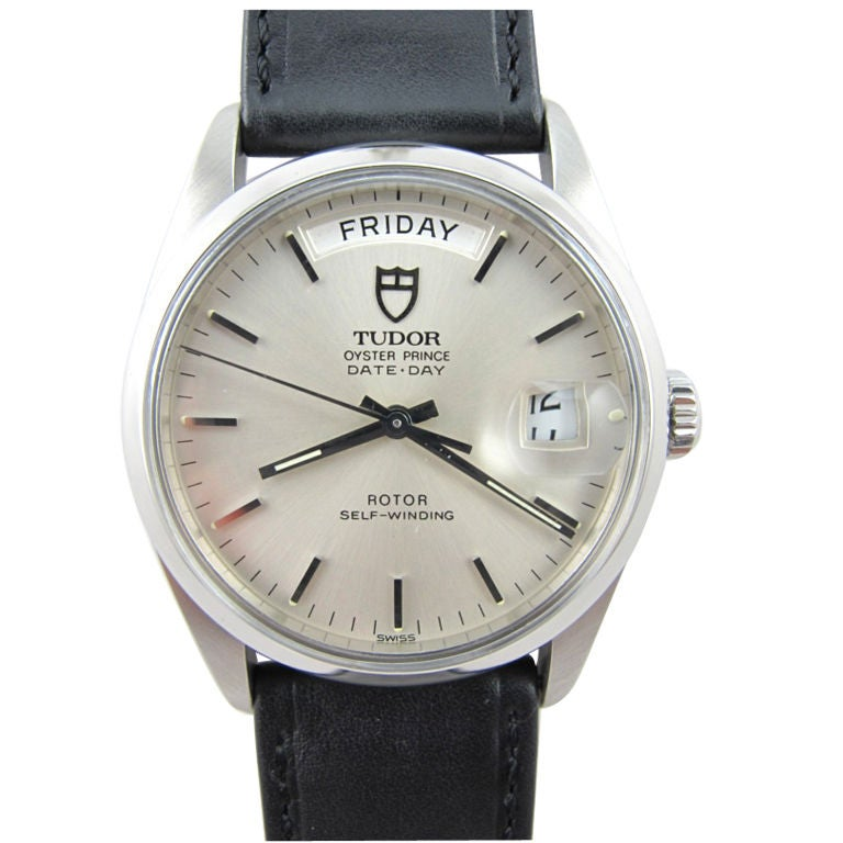 TUDOR Steel Oyster Prince Date-Day circa 1970's at 1stdibs