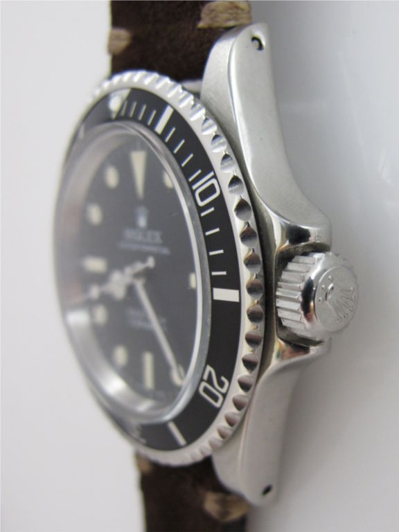 "Rolex SS Submariner ref # 5513 circa 1977 so called ""maxi"" dial image 2"