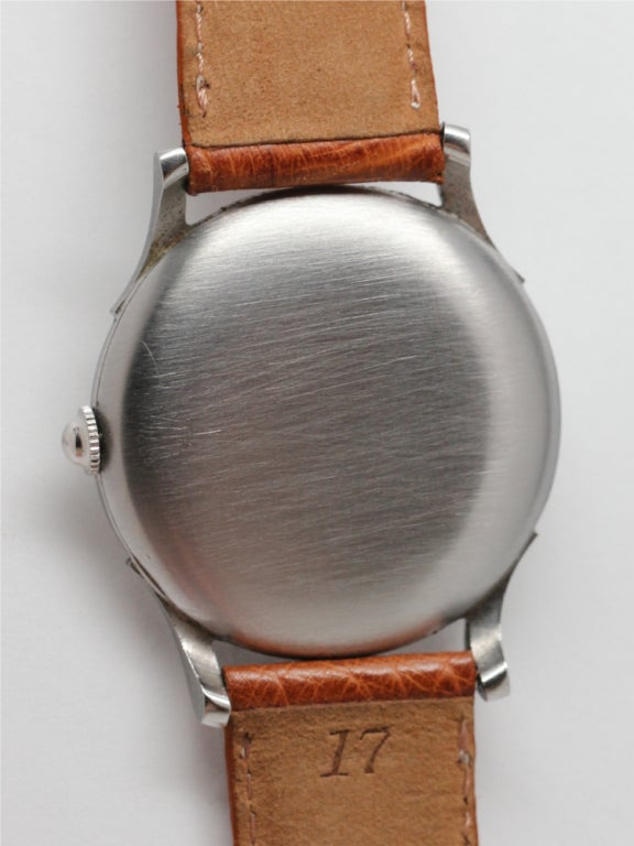 Rolex Stainless Steel Dress Watch circa 1930s. For Sale 1