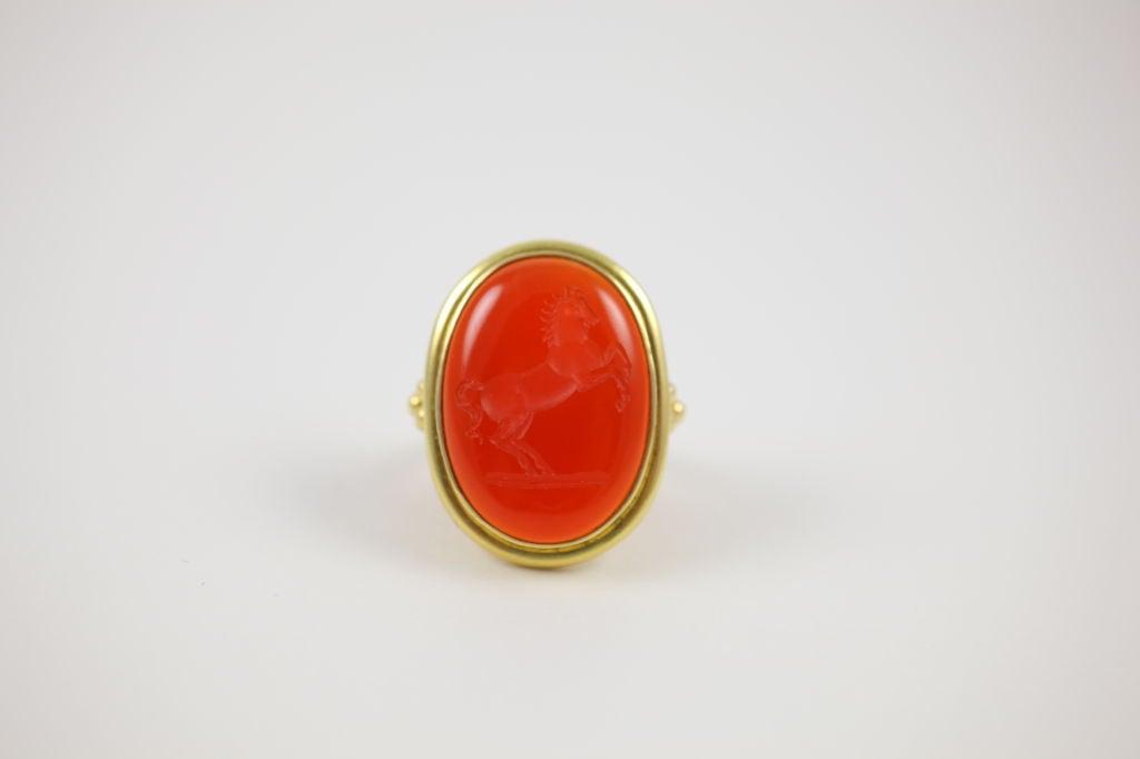 Elizabeth Locke Carnelian Ring
