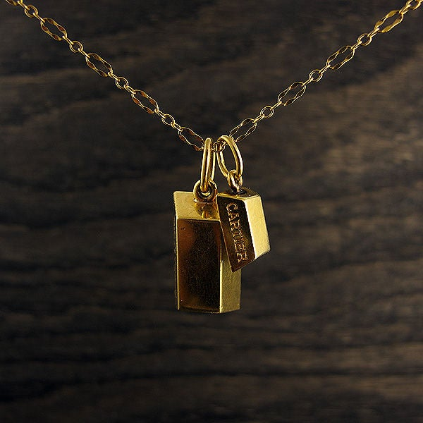 Cartier Bullion Bars Necklace At 1stdibs