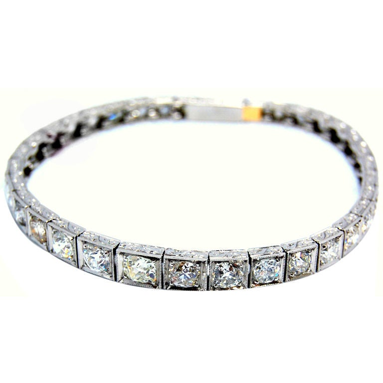 Platinum Diamond Bracelet Vintage